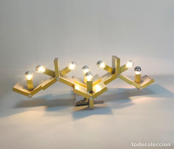 Vintage: Espectacular lámpara de pared de Gaetano Sciolari, 1970s - Foto 2 - 276961393