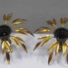 Vintage: PAREJA DE LAMPARAS DE TECHO. AÑOS 60. Lote 277155163