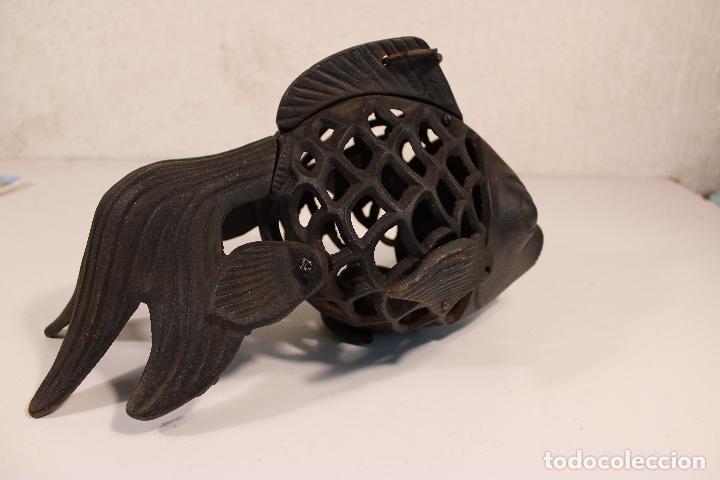 Vintage: farol pez de hierro fundido - Foto 2 - 277420223