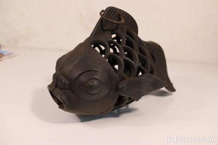 Vintage: farol pez de hierro fundido - Foto 3 - 277420223