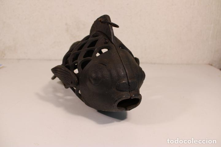Vintage: farol pez de hierro fundido - Foto 4 - 277420223
