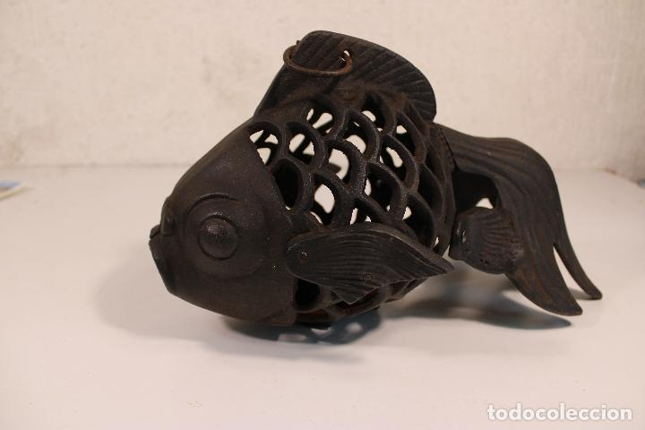 Vintage: farol pez de hierro fundido - Foto 5 - 277420223