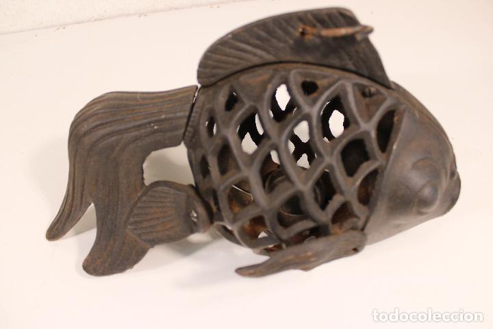 Vintage: farol pez de hierro fundido - Foto 6 - 277420223