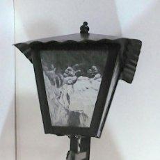 Vintage: FAROL HIERRO FORJADO CON CRISTALES ESMERILADOD. Lote 278600628