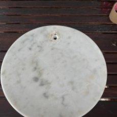Vintage: GRAN PEANA DE MARMOL CIRCULAR PARA LAMPARA DE PIE O ESCULTURA 38 CM DIÁMETRO 5 DE ALTO. Lote 283516488
