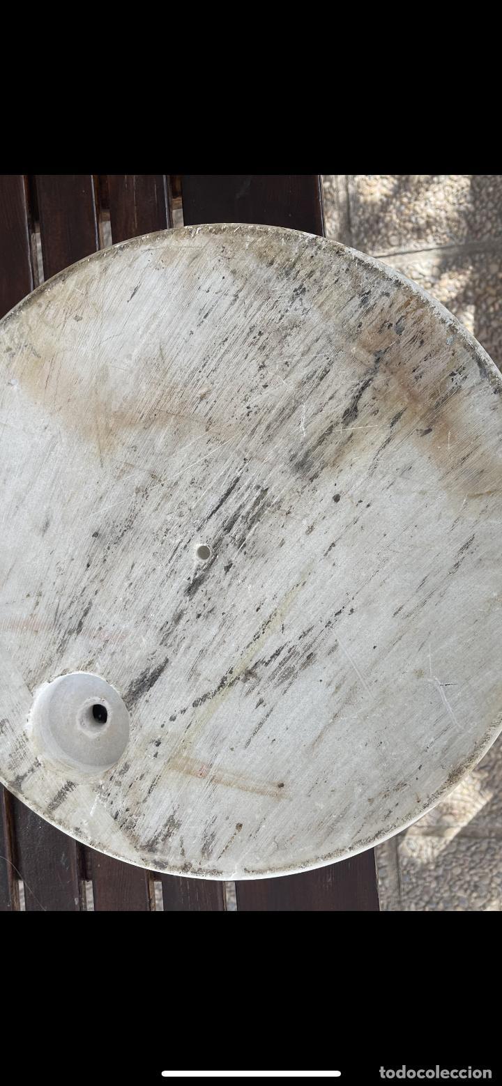 Vintage: Gran Peana de marmol circular para lampara de pie o escultura 38 Cm diámetro 5 de alto - Foto 3 - 283516488