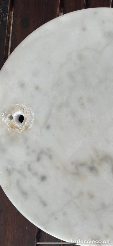 Vintage: Gran Peana de marmol circular para lampara de pie o escultura 38 Cm diámetro 5 de alto - Foto 4 - 283516488