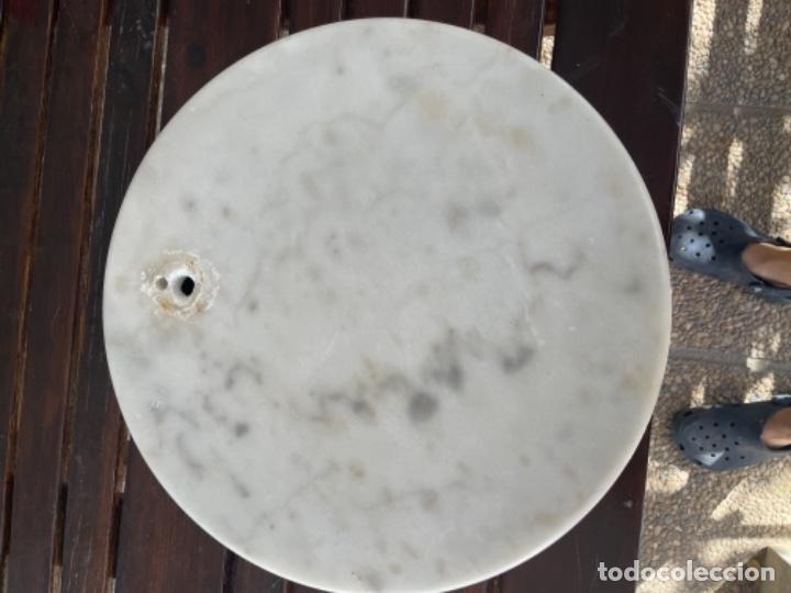 Vintage: Gran Peana de marmol circular para lampara de pie o escultura 38 Cm diámetro 5 de alto - Foto 16 - 283516488