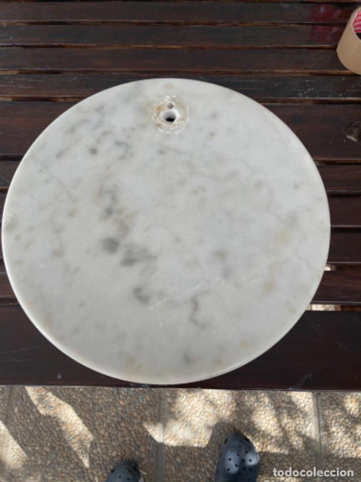 Vintage: Gran Peana de marmol circular para lampara de pie o escultura 38 Cm diámetro 5 de alto - Foto 20 - 283516488