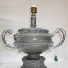 Vintage: EXCEPCIONAL GRAN LAMPARA AÑOS 60 VINTAGE PEDRAZA SEGOVIA EN ESTAÑO. Lote 285363483