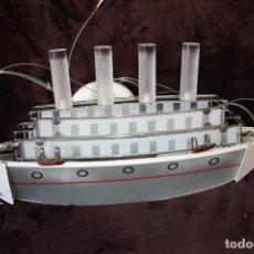 Vintage: LAMPARA DE TECHO EN FORMA DE BARCO. Lote 287982828