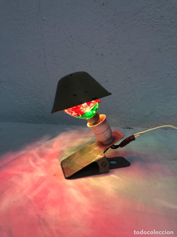 ´BONITA LAMPARITA DE PINZA (Vintage - Lámparas, Apliques, Candelabros y Faroles)