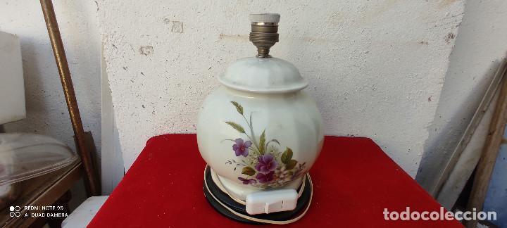 LAMPARA DE CERAMICA SOBREMESA (Vintage - Lámparas, Apliques, Candelabros y Faroles)