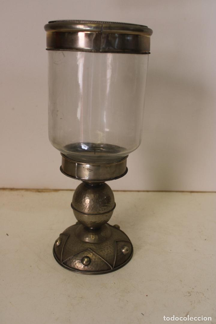 VINTAGE CANDELABRO METAL PLATEADO (Vintage - Lámparas, Apliques, Candelabros y Faroles)