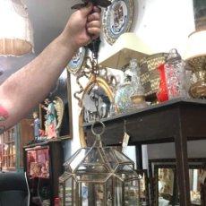 Vintage: PRECIOSA LAMPARA ESTILO GRANADINA DE CRISTAL - MEDIDA 38X22 CM. Lote 295331148