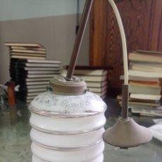 Vintage: LAMPARITA DE TECHO DE CRISTAL Y BRONCE. Lote 295498343