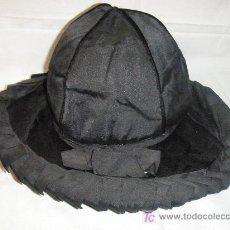Vintage: SOMBRERO NEGRO DE PRINCIPIOS DEL S.XX. Lote 27024777