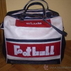 Vintage: BOLSA O MALETA DE DEPORTES (VINTAGE)AÑOS 60 O 70 FOOTBALL. Lote 27637625