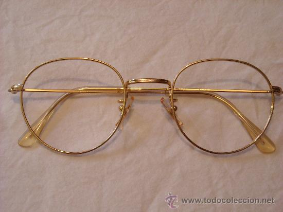 elegante montura para gafas. gafa metálica dora - Comprar ...