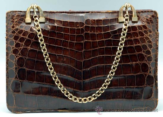 Vintage: Bolso rígido de piel años 50 - Foto 2 - 41379926