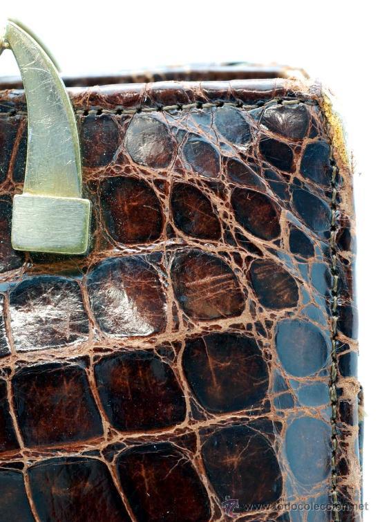 Vintage: Bolso rígido de piel años 50 - Foto 5 - 41379926
