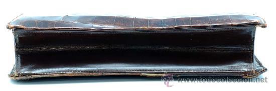 Vintage: Bolso rígido de piel años 50 - Foto 7 - 41379926