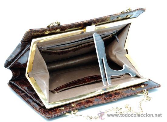Vintage: Bolso rígido de piel años 50 - Foto 8 - 41379926