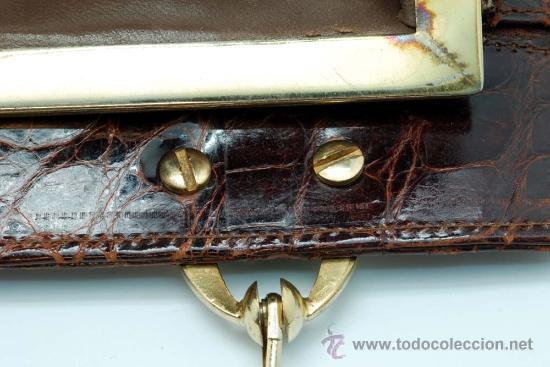 Vintage: Bolso rígido de piel años 50 - Foto 11 - 41379926