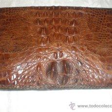 Vintage: BOLSO DE PIEL AÑOS 60 COCODRILO. Lote 29518582