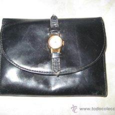 Vintage: ANTIGUA CARTERA MONEDERO DE PIEL CON RELOJ INCORPORADO .VER FOTOS.. Lote 30512654