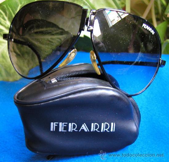 Vintage: Auténticas gafas vintage tipo aviador década 70-80 plegables Marca FERARRI con funda original - Foto 3 - 30632607
