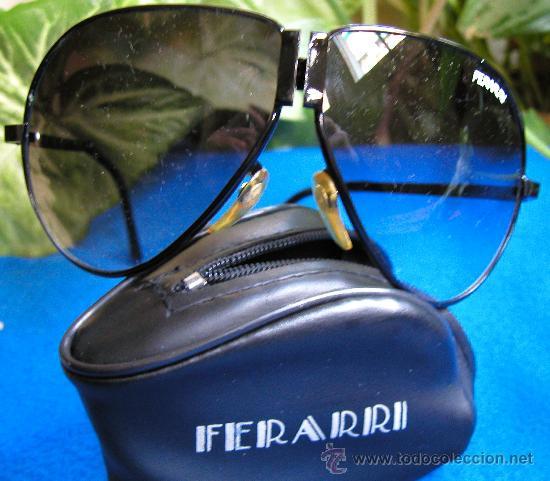 Vintage: Auténticas gafas vintage tipo aviador década 70-80 plegables Marca FERARRI con funda original - Foto 4 - 30632607
