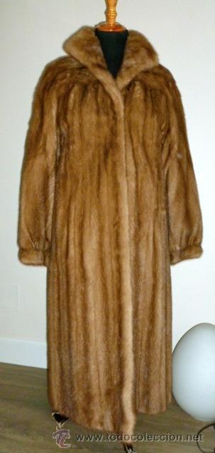 EXCEPCIONAL ABRIGO DE VISON TALLA 40-46 (Vintage - Moda - Mujer)