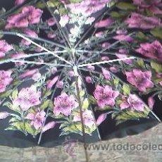 Vintage: PARAGUAS ESTILO ART DECÓ ORIGINAL DE PRINCIPIOS DEL S.XX .CON MANGO FORRADO DE CUERO NEGRO. Lote 32237271