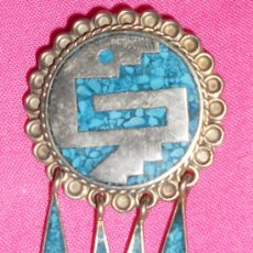 Vintage: ANTIGUO BROCHE COLGANTE DE ,ALPACA HECHO EN MEXICO . Lote 32276041