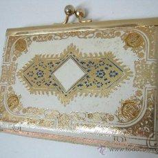 Vintage: BELLO BOLSO MONEDERO - PIEL GRABADA EN ORO. Lote 35718919