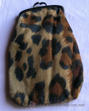 Funda de gafas en tela-pana estampado leopardo - Retro | Vintage segunda mano