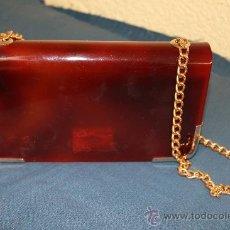 Vintage: BOLSO CLUNCH EN SIMIL CAREY VINTAGE. Lote 34923095