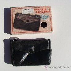 Vintage: ANTIGUO BILLETERO DE GENUINA PIEL CON COMPARTIMENTO PARA LLAVES, BILLETES Y MONEDAS. SIN USAR.. Lote 296598458
