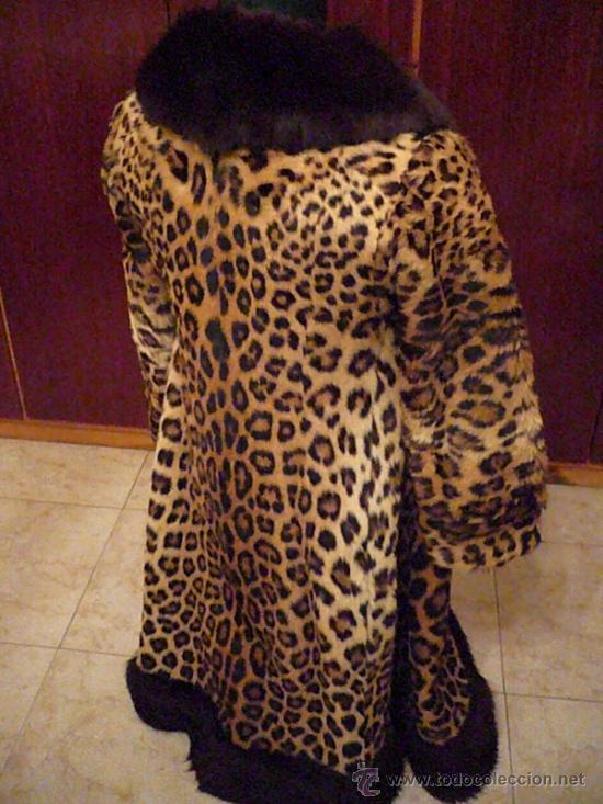 Abrigo piel de leopardo