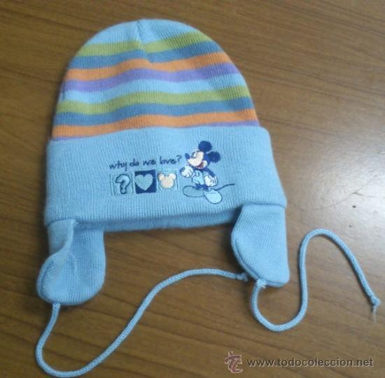 7c81eeb4e6f96 antiguo gorro lana bebe mickey mouse - Comprar Complementos vintage ...