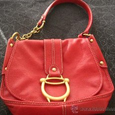Vintage: BOLSO COCCINELLE PIEL AUTENTICO ROJO- PERFECTO ESTADO--BAG LEATHER. Lote 36077535