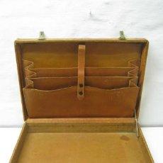 Vintage: 1930/40 - ANTIGUA BELLA MALETA MALETIN PORTAFOLIOS EN PIEL. Lote 36389392