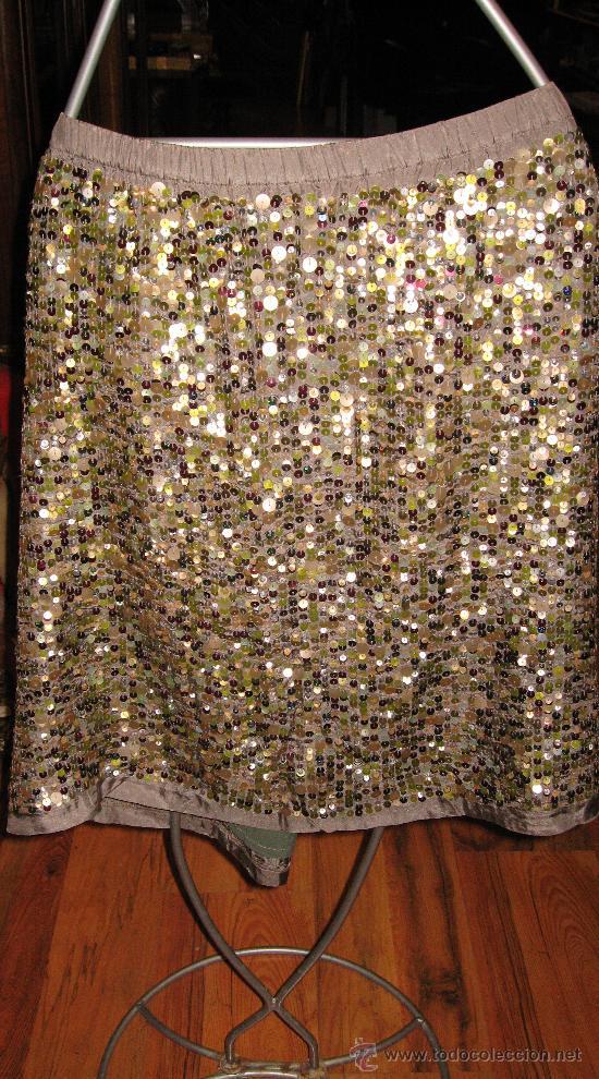 88a61e2ef7 falda de lentejuelas degradados en verde - Comprar Moda vintage ...