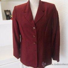 Vintage: CHAQUETA DE SEDA SALVAJE COLOR GRANATE TALLA 42. Lote 36599067