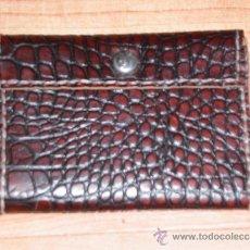 Vintage: VINTAGE CARTERA MONEDERO CABALLERO EN PIEL,COSIDA A MANO.. Lote 37560926