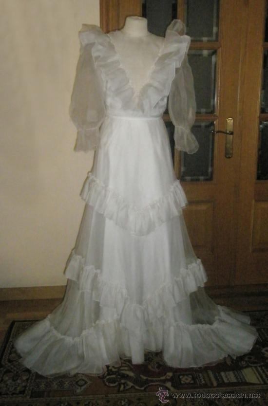 vestido de novia, organza, con volantes estilo - vendido en venta