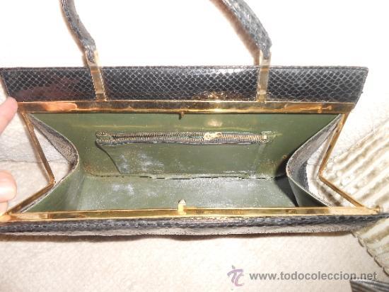 Vintage: BOLSO PIEL SERPIENTE, VINTAGE, AÑOS 60 - Foto 10 - 39149052
