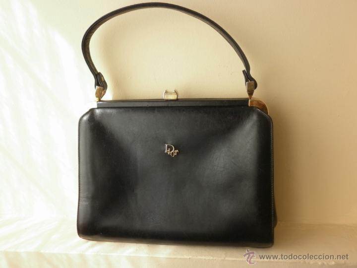 73ae9e13e9c9c Bolso vintage de piel azul marino de christian - Sold through Direct ...