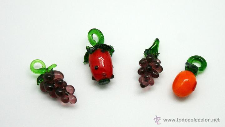 lote de colgantes de fruta de cristal de murano aos vintage
